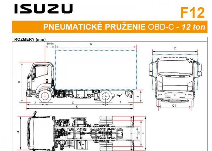 Isuzu F12 Pneumatické pruženie