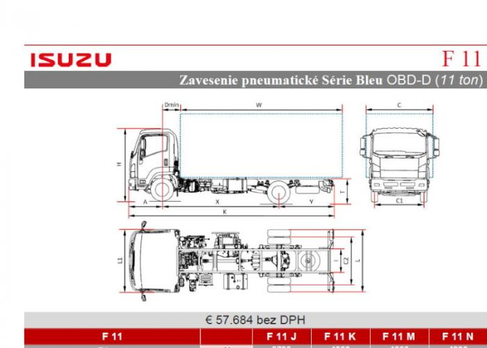 Isuzu F11 Pneumatické pruženie