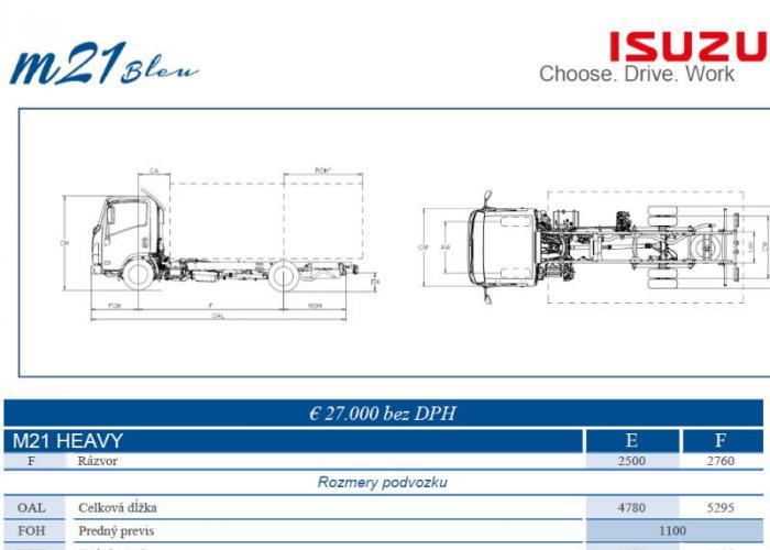 Katalóg Isuzu M21 Heavy