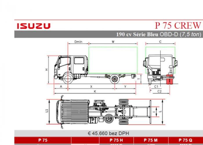 Katalóg Isuzu P75 190 HP CREW